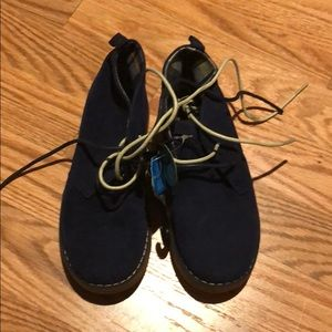 NWT Navy (faux) suede shoes